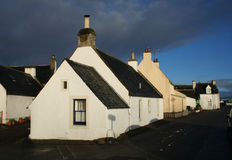 Cottage, Cromarty immagine stock