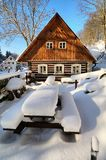 Cottage in Czech republic Stock Photography
