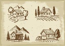 Cottage d'été de vecteur illustration libre de droits
