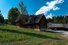 Cottage da Kysuce - museo del villaggio slovacco, je del ¡ del hà di JahodnÃcke, Martin, Slovacchia Fotografia Stock