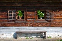 Cottage da Nolcovo - museo del villaggio slovacco, je del ¡ del hà di JahodnÃcke, Martin, Slovacchia Fotografia Stock Libera da Diritti