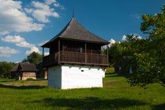Cottage da Slovenske Pravno - museo del villaggio slovacco, je del ¡ del hà di JahodnÃcke, Martin, Slovacchia Immagine Stock Libera da Diritti