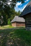 Cottage da Turiec - museo del villaggio slovacco, je del ¡ del hà di JahodnÃcke, Martin, Slovacchia Fotografia Stock Libera da Diritti
