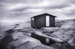 Cottage dal mare Fotografie Stock