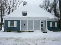 Cottage dans une station de sports d'hiver, Orangeville, Dufferin Photographie stock