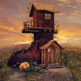 Cottage de botte illustration stock