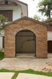 Cottage de brique en construction photo stock