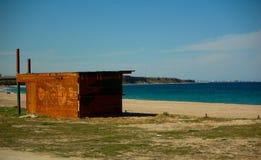Cottage de côté de mer Images stock