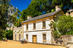 Cottage de Cadmans, le bâtiment le plus ancien à Sydney, Australie Photos libres de droits