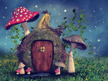 Cottage de courge d'imagination illustration stock