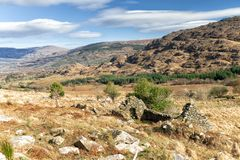 Cottage de famine, vallée noire, Irlande Images libres de droits