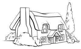 Cottage de maison de ferme Photographie stock libre de droits