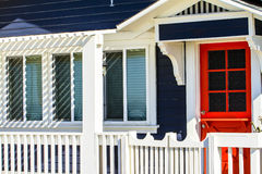 Cottage de plage de la Californie images stock