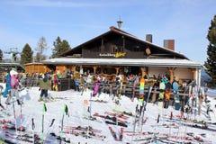 Cottage de ski Photos libres de droits