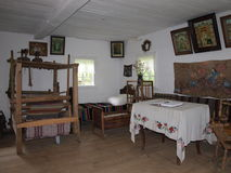 Cottage de Wyryki, Hola, Pologne Photo stock