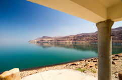 Cottage on the Dead Sea Royalty Free Stock Photography