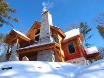 Cottage del blocco per grafici di legname Fotografie Stock