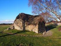 Cottage del campo di battaglia di Culloden Fotografia Stock Libera da Diritti