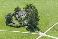 Cottage del custode dell'erba a Salisburgo, Austria Fotografia Stock
