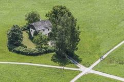 Cottage del custode dell'erba a Salisburgo, Austria Immagini Stock Libere da Diritti