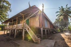 Cottage del khmer Immagine Stock