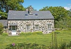 Cottage del paese, Galles. Fotografia Stock
