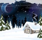 Cottage del silvicoltore royalty illustrazione gratis