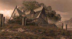 Cottage del Victorian della spiaggia Fotografia Stock