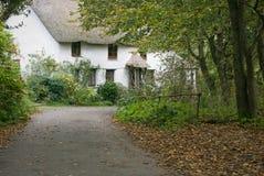 Cottage della Cornovaglia del villaggio Fotografia Stock Libera da Diritti