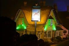 Cottage della matita alla notte Fotografie Stock