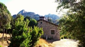 Cottage della montagna nel Nord di Madrid Fotografia Stock