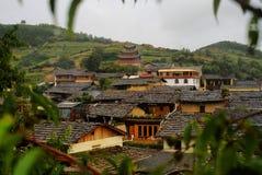 Cottage della nazionalità di Naxi Fotografia Stock Libera da Diritti