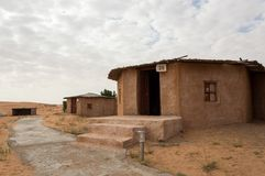 Cottage in a desert resourt. Cottage in a resort situated in middle of a desert Royalty Free Stock Image