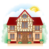 Cottage (detailed drawing) Stock Images