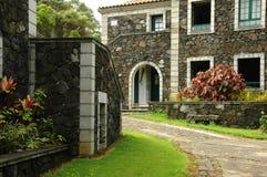 Cottage di estate delle Azzorre Fotografie Stock