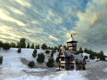 Cottage di Fairy-tale Fotografia Stock