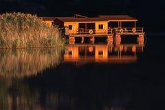 Cottage di galleggiamento di festa Fotografia Stock Libera da Diritti