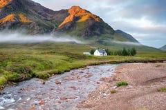 Cottage di Glencoe Fotografia Stock Libera da Diritti