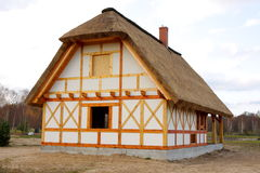 Cottage di legno Fotografia Stock