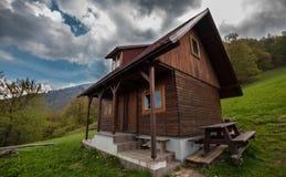Cottage di legno Fotografie Stock
