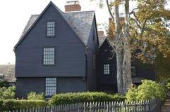 Cottage di legno americano Fotografie Stock