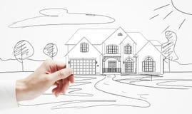 Cottage di modello a disposizione Immagine Stock Libera da Diritti