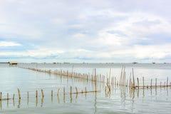Cottage di pesca del paesaggio in mare Fotografia Stock Libera da Diritti