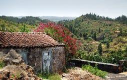 Cottage di pietra su La Palma Immagini Stock