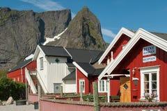 Cottage di Rorbu in Lofoten Immagini Stock Libere da Diritti