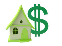 Cottage with dollar symbol Stock Photo