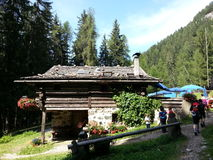 A cottage in Dolomiti montains Stock Photos