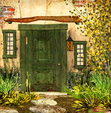 Cottage Door Royalty Free Stock Images