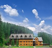 Cottage in a forest. Cottage in a mountain forest Royalty Free Stock Images