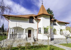 Cottage front view (Monastery resort) Royalty Free Stock Photos
